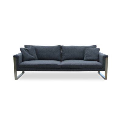 Boston Sofa Upholstery: Silver