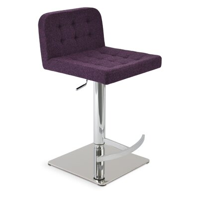 Lara Piston Bar Stool Color: Deep Maroon
