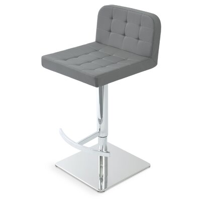 Lara Piston Bar Stool Color: Gray