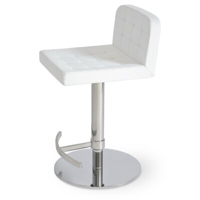Lara Piston Bar Stool Color: White
