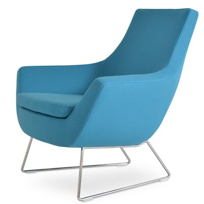 Rebecca Wire Lounge Chair Upholstery: Sky Blue Wool Camira Wool