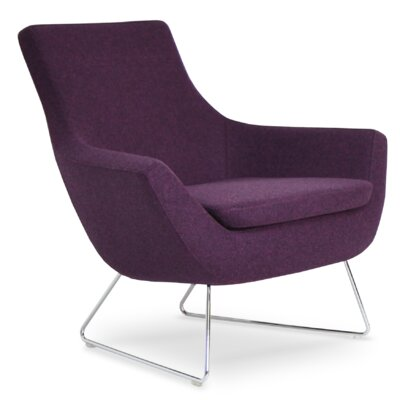 Rebecca Wire Lounge Chair Upholstery: Deep Maroon Camira Wool