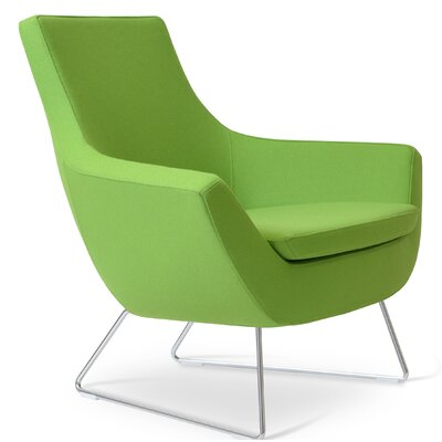 Rebecca Wire Lounge Chair Upholstery: Pistachio Camira Wool