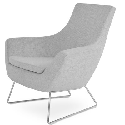 Rebecca Wire Lounge Chair Upholstery: Silver Wool Camira Wool