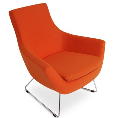 Rebecca Wire Lounge Chair Upholstery: Orange Wool Camira Wool