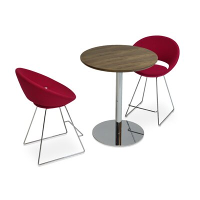 Crescent 24 Bar Stool Upholstery: Wool-Red