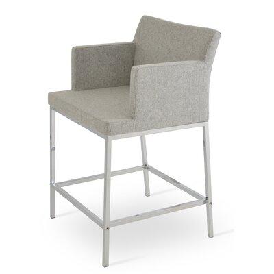 Soho 24.5 Bar Stool Upholstery: Camira Wool-Silver