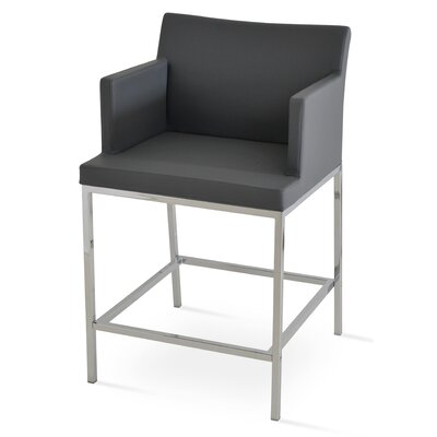 Soho 24.5 Bar Stool Upholstery: PPM Leatherette-Grey