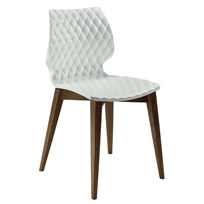 UNI-562 Solid Wood Dining Chair Seat Finish: White