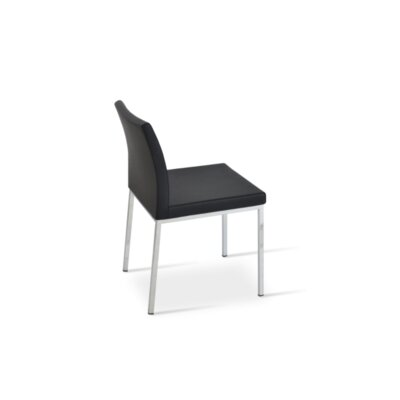 Paria Upholstered Dining Chair Upholstery Color: Black