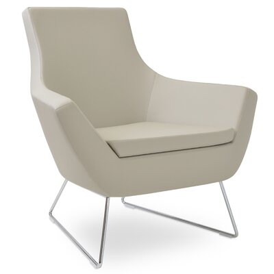 Rebecca Wire Lounge chair Seat Color: Bone