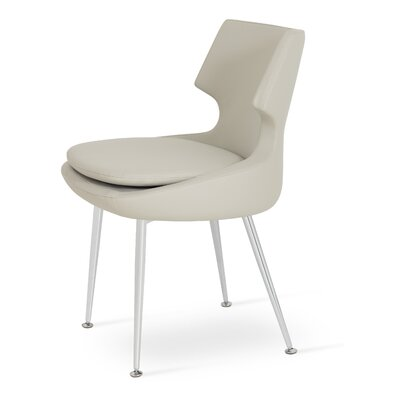 Patara Dining Chair Upholstery Color: Bone