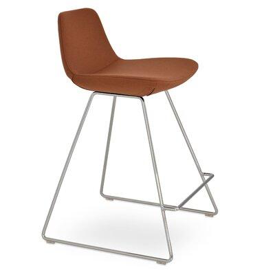 Napoli 24 Bar Stool Upholstery: Kvadrat Light Brown