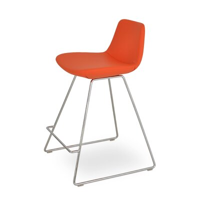 Pera PPM 24 Bar Stool Upholstery: Orange