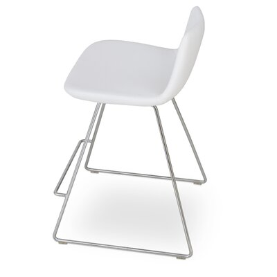 Pera 24 Bar Stool Upholstery: White Leatherette