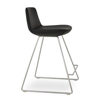 Pera PPM 24 Bar Stool Upholstery: Black