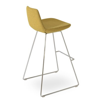 Pera Wool 24 Bar Stool Upholstery: Amber