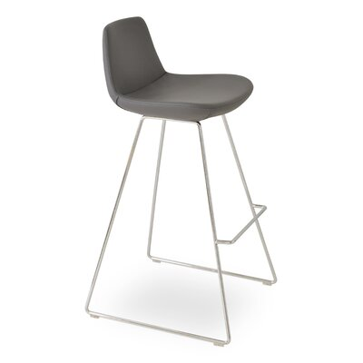 Pera PPM 24 Bar Stool Upholstery: Gray