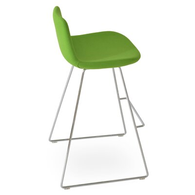 Pera Wool 24 Bar Stool Upholstery: Pistachio