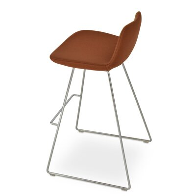 Napoli Adjustable Height Bar Stool Upholstery: Kvadrat Light Brown