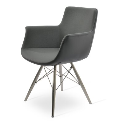 Bottega MW Upholstery Color: Gray, Leg Color: Stainless Steel