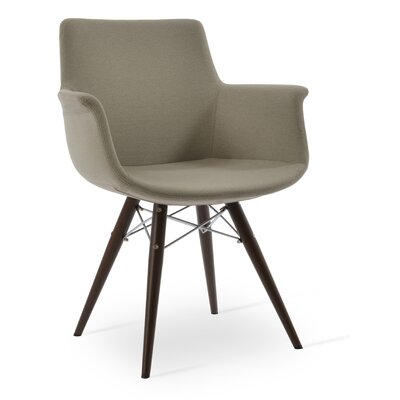 Bottega MW Upholstery Color: Silver, Leg Color: Walnut