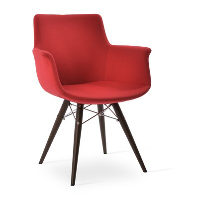 Bottega MW Upholstery Color: Red, Leg Color: Natural