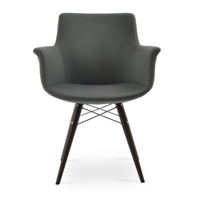 Bottega MW Upholstery Color: Dark Gray, Leg Color: Black