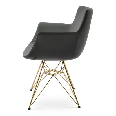 Bottega Tower Upholstery Color: Dark Gray, Leg Color: Gold