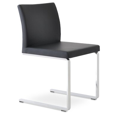 Aria Side Chair Upholstery: Black Leatherette