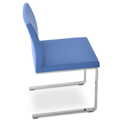 Aria Flat Side Chair Upholstery: Camira Wool Skyblue
