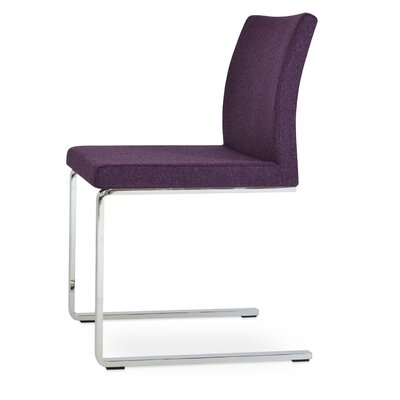 Aria Flat Side Chair Upholstery: Camira Wool Deep Maroon