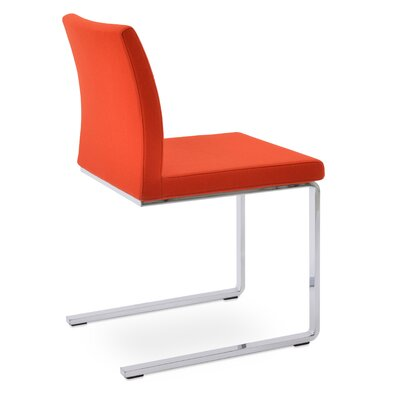 Aria Flat Side Chair Upholstery: Camira Wool Orange