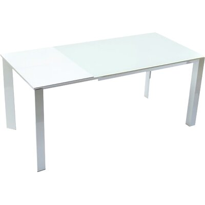 Milano Extendable Dining Table Finish: White
