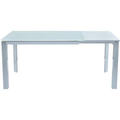 Milano Extendable Dining Table Finish: Silver