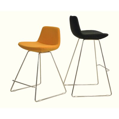 Lease to own Pera Wire Counter Chair Color: Whit...