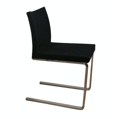 Low Price sohoConcept Aria Flat Side Chair Upholstery: Black, Upholstery Fabric: Leather