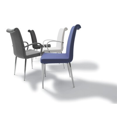 Lale Dining Chair Color: Stainless Steel