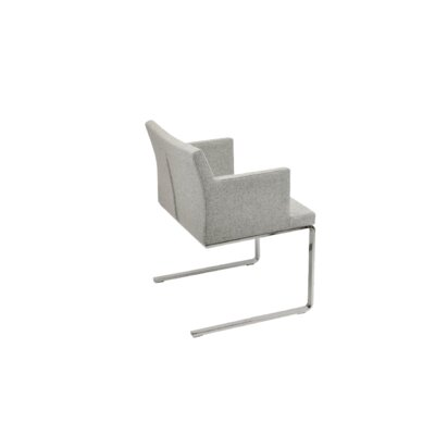 sohoConcept Soho Lounge Flat Arm Chair - Upholstery: Camira Wool, Color: Amber