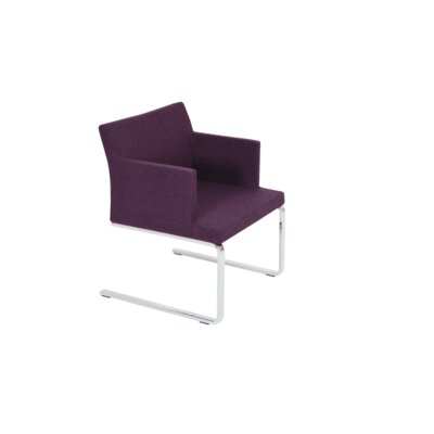 Soho Lounge Flat Arm Chair Upholstery: Camira Wool, Color: Deep Maroon