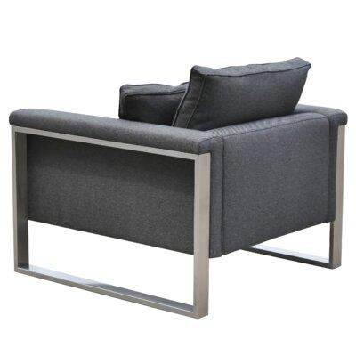Boston Arm Chair Upholstery: Black Pepper