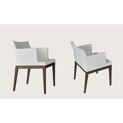 sohoConcept Soho Wood Arm Chair - Finish: Wenge, Color: Black, Upholstery: Leather