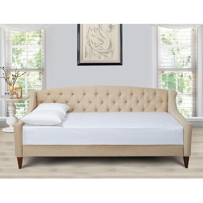 Jennifer Taylor Lucy Upholstered Sofa Bed - Upholstery: Tan