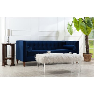 Katharina Tufted Chesterfield Sofa in Navy