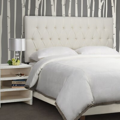 Maya Upholstered Panel Headboard Size: King