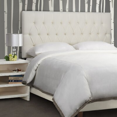 Maya Tufted Upholstered Panel Headboard Size: Queen