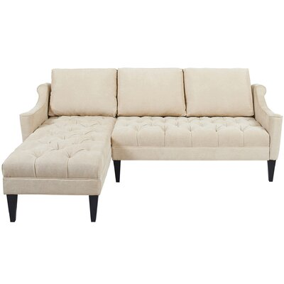 Amelie Reversible Chaise Sectional Upholstery: Beige