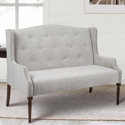 Izzy Tufted Settee Upholstery: Silver Grey