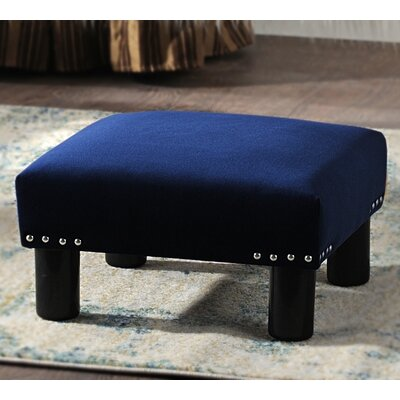 Jules Square Accent Ottoman Upholstery: Navy Blue