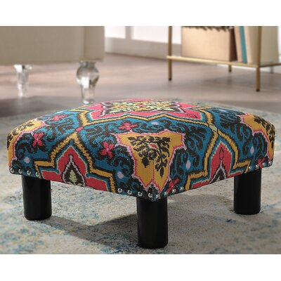Jules Square Accent Ottoman Upholstery: Tango Blue